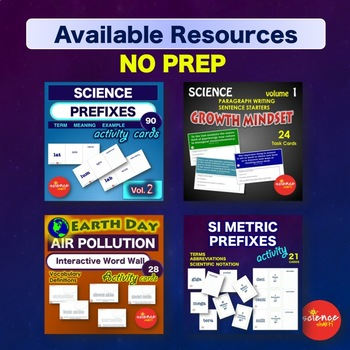 Science EARTH DAY Air Pollution NO PREP Word Wall Activity