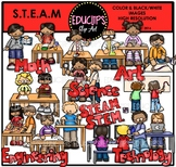 S.T.E.A.M (Science, Tech, Engineering, Art, Math) Clip Art {Educlips Clipart}