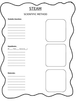STEAM Scientific Method Sheet