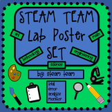 STEAM Labs/Centers/Stations Posters Set w/ task, rotation