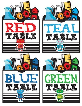 STEAM Table Labels