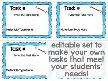 Maker Space Task Cards (Simple STEAM Cotton Swab)