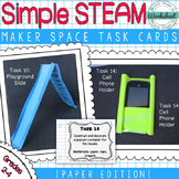 Maker Space Task Cards (Simple STEAM Paper Edition)