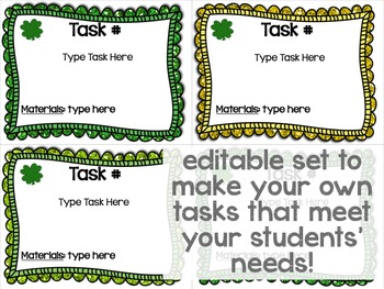 Maker Space Task Cards (St. Patrick's Day Edition)