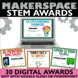 End of the Year Awards Editable STEM