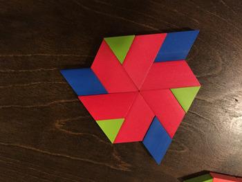 STEAM Tile Design Activity with Pattern Blocks