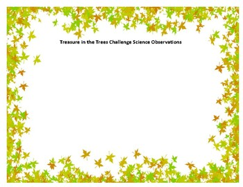 STEAM Treasure in the Trees Challenge