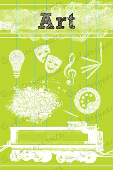 STEAM, Art, Printable Poster: Modern and Bright Classroom Decoration