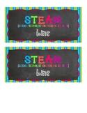 STEAM bin label