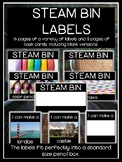 STEAM bin labels and task cards