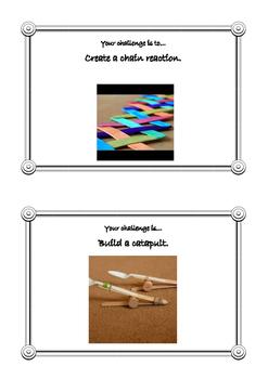 STEAM challenge cards