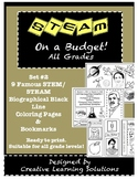 STEAM on a Budget:Set #2 Biographical Coloring Pages & Bookmarks