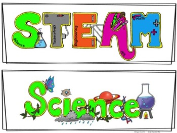 STEAM or STEM Journal Labels and Posters