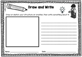 STEAM / STEM Writing Task Sheets for Classroom Maker Spaces or Libraries