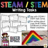 STEAM / STEM Writing Task Sheets for Classroom Maker Space