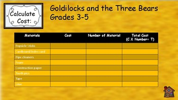 STEAM with Goldilocks!