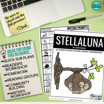 STELLALUNA ACTIVITIES October read aloud lessons WRITING PROMPTS comprehension