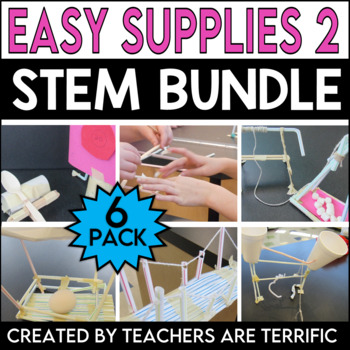 STEM Challenges 6 Pack Bundle featuring Easy Supplies 2