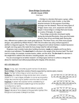 STEM: 6th Grade Straw Bridge Building