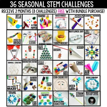 STEM CHALLENGES for the ENTIRE YEAR BUNDLE - Distance Learning