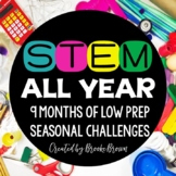 STEM CHALLENGES for the ENTIRE YEAR BUNDLE - End of Year/Back to School STEM