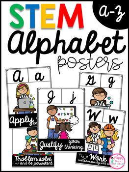 STEM ALPHABET POSTERS- Cursive