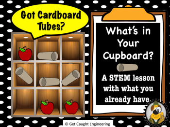 """STEM Action Time: What's in Your Cupboard? """"Got Cardboard Rolls?"""""""