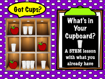 """STEM Action Time: What's in Your Cupboard? """"Got Cups?"""""""