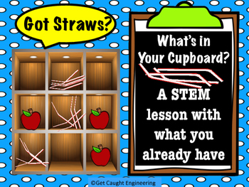 """STEM Action Time: What's in Your Cupboard? """"Got Straws?"""""""