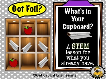 STEM Action Time!                         What's In Your Cupboard? Got Foil?