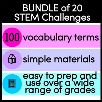 STEM Challenges BUNDLE for any time of the year LOW prep