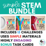 STEM Activities BUNDLE - Simple STEM with plates, popsicle sticks, and cups
