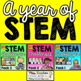 STEM Activities Bundle (Pack 1, 2 and 3) A Year of STEM #onemoreday