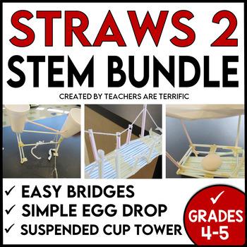 STEM Activities Challenge  Straws 2 Bundle