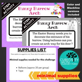 STEM Activities Easter Bunny Burrow Arch