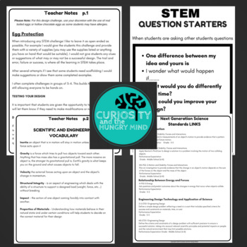 STEM Activities - Easter Egg Protection Challenge NGSS Aligned