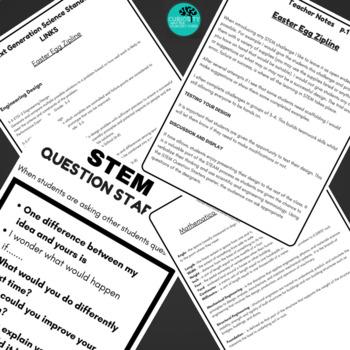 STEM Activities - Easter Egg Zipline NGSS Aligned