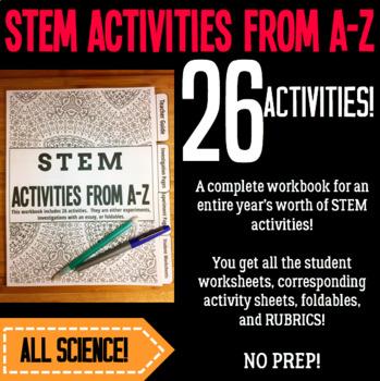 STEM Activities From A-Z Workbook