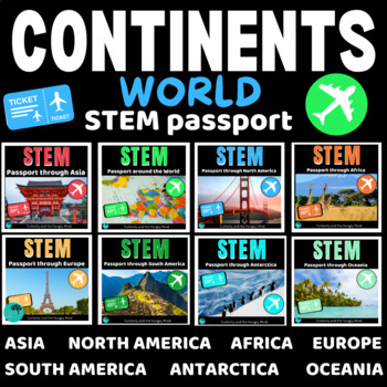 STEM Activities Bundle - Travel the WORLD with activity challenges