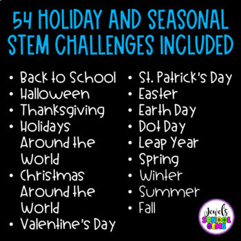 A YEAR of STEM for Elementary BUNDLE with October Halloween STEM Activities