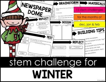 STEM Activity - 15 Challenges - Winter