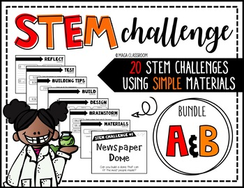 STEM Activity - 20 Challenges BUNDLE
