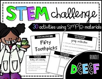 STEM Activity - 30 Challenges BUNDLE