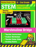 STEM Activity Challenge - Marshmallow Bridge K-2nd Grade