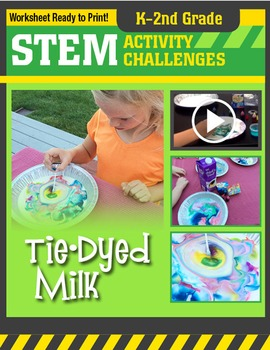 STEM Activity Challenge - Tie-dyed Milk K-2nd Grade
