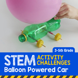 STEM Activity Challenge Balloon Powered Car 3rd-5th grade