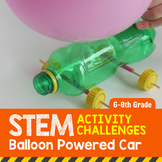 STEM Activity Challenge Balloon Powered Car 6th-8th Grade