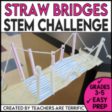 STEM Challenge Easy Bridges with Straws