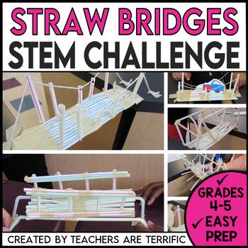 STEM Activity Challenge Easy Bridges with Straws