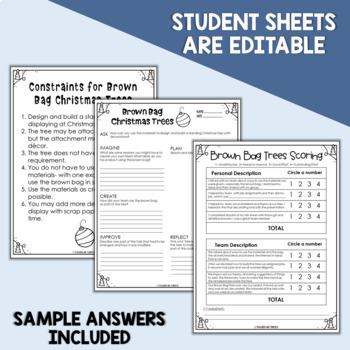 STEM Challenge Brown Bag Christmas Tree